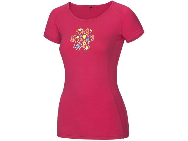 Ocun Bamboo Meadow Lyhythihainen paita Naiset, rose pink